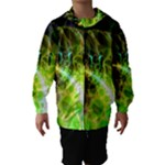 Dawn Of Time, Abstract Lime & Gold Emerge Hooded Wind Breaker (Kids)