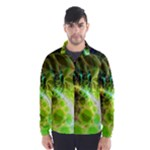 Dawn Of Time, Abstract Lime & Gold Emerge Wind Breaker (Men)