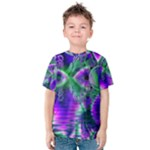 Evening Crystal Primrose, Abstract Night Flowers Kid s Cotton Tee