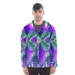 Evening Crystal Primrose, Abstract Night Flowers Hooded Wind Breaker (Men)