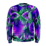 Evening Crystal Primrose, Abstract Night Flowers Men s Sweatshirt