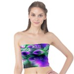 Evening Crystal Primrose, Abstract Night Flowers Tube Top