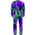 Evening Crystal Primrose, Abstract Night Flowers OnePiece Jumpsuit (Men)