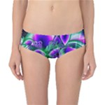 Evening Crystal Primrose, Abstract Night Flowers Classic Bikini Bottoms