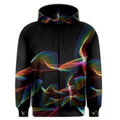 Fluted Cosmic Rafluted Cosmic Rainbow, Abstract Winds Men s Zipper Hoodie by DianeClancy