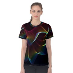 Imagine, Through The Abstract Rainbow Veil Women s Cotton Tee by DianeClancy