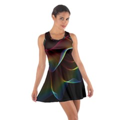 Imagine, Through The Abstract Rainbow Veil Racerback Dresses by DianeClancy