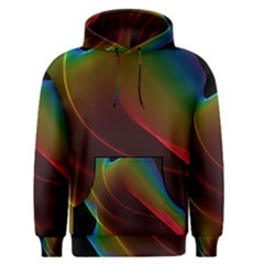 Liquid Rainbow, Abstract Wave Of Cosmic Energy  Men s Pullover Hoodie by DianeClancy