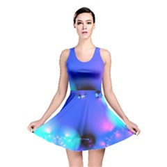 Love In Action, Pink, Purple, Blue Heartbeat 10000x7500 Reversible Skater Dress by DianeClancy