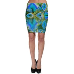 Mystical Spring, Abstract Crystal Renewal Bodycon Skirts by DianeClancy