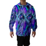 Peacock Crystal Palace Of Dreams, Abstract Hooded Wind Breaker (Kids)