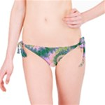 Rose Apple Green Dreams, Abstract Water Garden Bikini Bottom