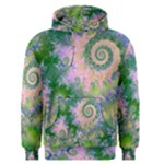Rose Apple Green Dreams, Abstract Water Garden Men s Pullover Hoodie