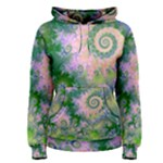 Rose Apple Green Dreams, Abstract Water Garden Women s Pullover Hoodie