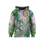 Rose Apple Green Dreams, Abstract Water Garden Kids  Zipper Hoodie