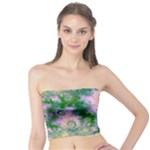 Rose Apple Green Dreams, Abstract Water Garden Tube Top