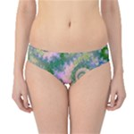 Rose Apple Green Dreams, Abstract Water Garden Hipster Bikini Bottoms