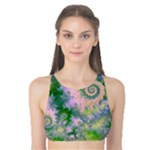 Rose Apple Green Dreams, Abstract Water Garden Tank Bikini Top