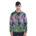 Rose Apple Green Dreams, Abstract Water Garden Wind Breaker (Men)