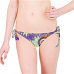 Sea Shell Spiral, Abstract Violet Cyan Stars Bikini Bottom