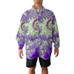 Sea Shell Spiral, Abstract Violet Cyan Stars Wind Breaker (Kids)