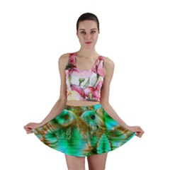 Spring Leaves, Abstract Crystal Flower Garden Mini Skirts by DianeClancy