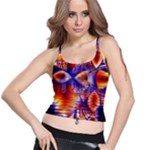 Winter Crystal Palace, Abstract Cosmic Dream (lake 12 15 13) 9900x7400 Smaller Spaghetti Strap Bra Top