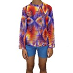Winter Crystal Palace, Abstract Cosmic Dream (lake 12 15 13) 9900x7400 Smaller Kid s Long Sleeve Swimwear