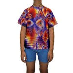 Winter Crystal Palace, Abstract Cosmic Dream (lake 12 15 13) 9900x7400 Smaller Kid s Short Sleeve Swimwear