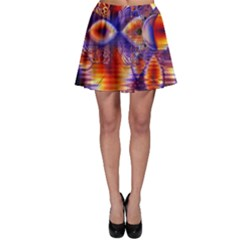 Winter Crystal Palace, Abstract Cosmic Dream (lake 12 15 13) 9900x7400 Smaller Skater Skirt by DianeClancy