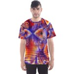 Winter Crystal Palace, Abstract Cosmic Dream (lake 12 15 13) 9900x7400 Smaller Men s Sport Mesh Tee