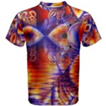 Winter Crystal Palace, Abstract Cosmic Dream (lake 12 15 13) 9900x7400 Smaller Men s Cotton Tee