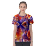 Winter Crystal Palace, Abstract Cosmic Dream (lake 12 15 13) 9900x7400 Smaller Women s Sport Mesh Tee