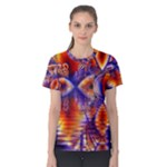 Winter Crystal Palace, Abstract Cosmic Dream (lake 12 15 13) 9900x7400 Smaller Women s Cotton Tee