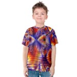 Winter Crystal Palace, Abstract Cosmic Dream (lake 12 15 13) 9900x7400 Smaller Kid s Cotton Tee