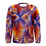 Winter Crystal Palace, Abstract Cosmic Dream (lake 12 15 13) 9900x7400 Smaller Men s Long Sleeve Tee