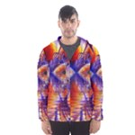 Winter Crystal Palace, Abstract Cosmic Dream (lake 12 15 13) 9900x7400 Smaller Hooded Wind Breaker (Men)