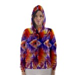 Winter Crystal Palace, Abstract Cosmic Dream (lake 12 15 13) 9900x7400 Smaller Hooded Wind Breaker (Women)