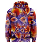 Winter Crystal Palace, Abstract Cosmic Dream (lake 12 15 13) 9900x7400 Smaller Men s Zipper Hoodie
