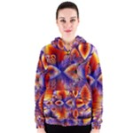 Winter Crystal Palace, Abstract Cosmic Dream (lake 12 15 13) 9900x7400 Smaller Women s Zipper Hoodie