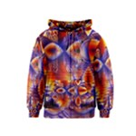 Winter Crystal Palace, Abstract Cosmic Dream (lake 12 15 13) 9900x7400 Smaller Kids  Zipper Hoodie