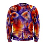 Winter Crystal Palace, Abstract Cosmic Dream (lake 12 15 13) 9900x7400 Smaller Men s Sweatshirt