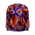 Winter Crystal Palace, Abstract Cosmic Dream (lake 12 15 13) 9900x7400 Smaller Women s Sweatshirt