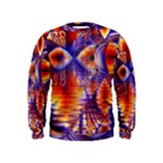Winter Crystal Palace, Abstract Cosmic Dream (lake 12 15 13) 9900x7400 Smaller Kids  Sweatshirt