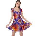 Winter Crystal Palace, Abstract Cosmic Dream (lake 12 15 13) 9900x7400 Smaller Cap Sleeve Dresses