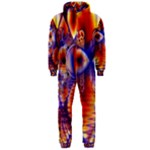 Winter Crystal Palace, Abstract Cosmic Dream (lake 12 15 13) 9900x7400 Smaller Hooded Jumpsuit (Men)