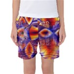 Winter Crystal Palace, Abstract Cosmic Dream (lake 12 15 13) 9900x7400 Smaller Women s Basketball Shorts