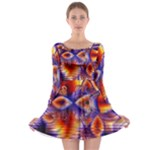 Winter Crystal Palace, Abstract Cosmic Dream (lake 12 15 13) 9900x7400 Smaller Long Sleeve Skater Dress
