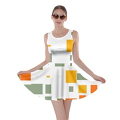 Rectangles And Squares In Retro Colors  Skater Dress by LalyLauraFLM