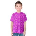 Pink Snowflakes Spinning In Winter Kid s Cotton Tee